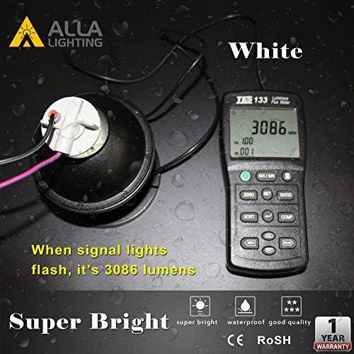 Alla Lighting 1156 BA15S 39-LED Amber Yellow Rear Turn Signal Blinker Light Bulb
