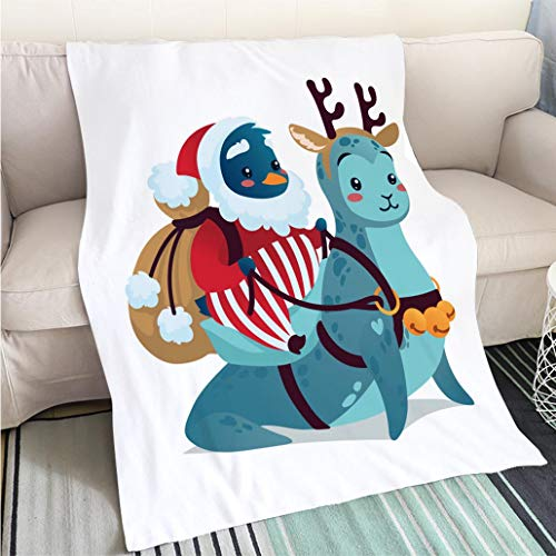 Home Digital Printing Thicken Blanket Christmas Characters Cute