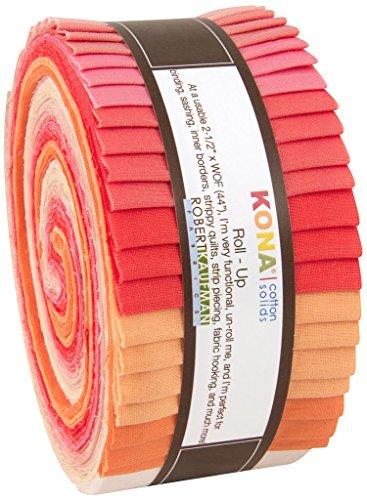 Robert Kaufman Strips Kona 40 Piece Cotton Blushing Bouqu...
