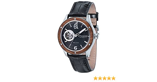 Amazon.com: Spinnaker Mens Sorrento Chronograph Watch - Black/Brown: SPINNAKER: Watches