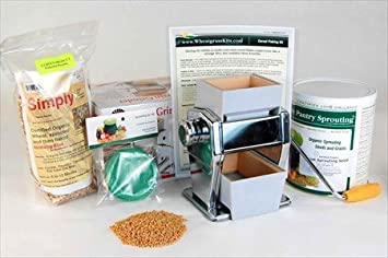 Amazon basic cereal flaking kit make your own cereal flakes basic cereal flaking kit make your own cereal flakes includes flaking machine ccuart Image collections