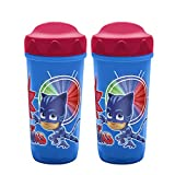 Zak Designs PJ Masks Plastic Sippy Cup with Patented Perfect flo(R) Valve to Select the Liquid Flow for Toddlers (8.7 oz., BPA-Free and Break-Resistant)