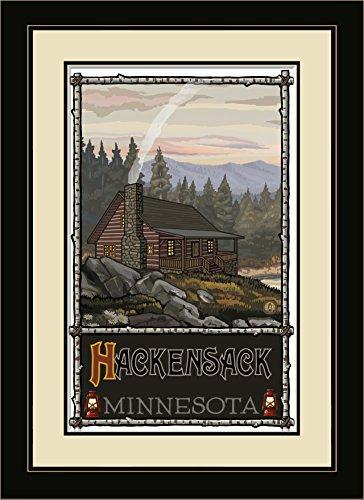 Northwest Art Mall PAL-1676 MFGDM SHC Hackensack Minnesota Summer Hill Cabin Framed Wall Art by Artist Paul A. Lanquist, 13 by - Hackensack Mall
