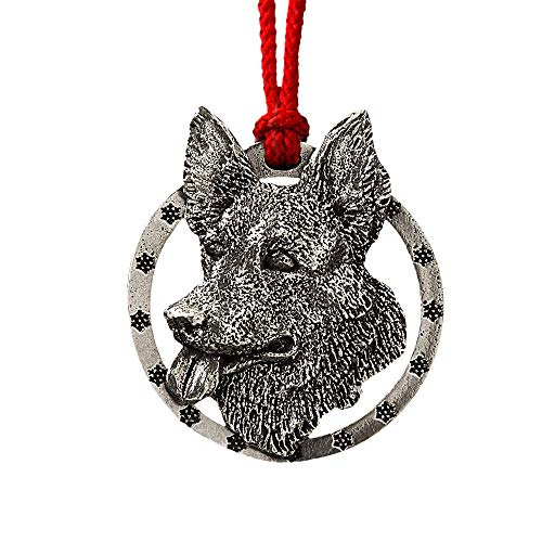 German Shepherd Pewter Ornament, -
