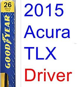 2015 Acura TLX Wiper Blade (Driver) (Goodyear Wiper Blades-Premium), Wipers - Amazon Canada