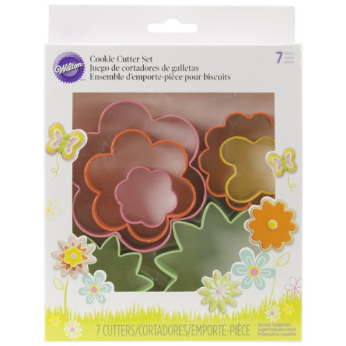 Wilton Cookie Cutter 7 Piece Metal Mini Garden