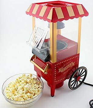 MK Mini Countertop Retro Pop Corn Popper Hot Air Popcorn Maker Machine Popcorn Makers at amazon