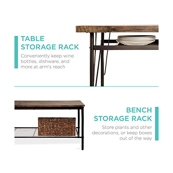 Best Choice Products 6-Piece 55in Wooden Modern Dining Set for Home, Kitchen, Dining Room w/Storage Racks, Rectangular…