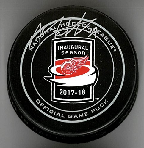 ANTHONY MANTHA AUTOGRAPHED LITTLE CAESARS ARENA OFFICIAL GAME PUCK by Detroit City Sports