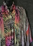 Kimono Scarf Jacket Hand Dyed Grey Color Mix