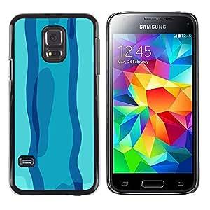 LECELL--Funda protectora / Cubierta / Piel For Samsung Galaxy S5 Mini, SM-G800 -- Nadar en día azul --