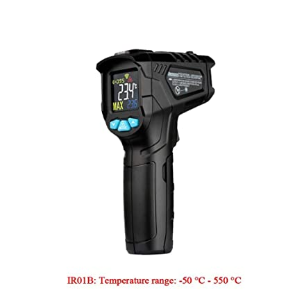 dem.w Infrared Thermometer, Digital Laser Thermometer Non Contact Industrial Kitchen Thermometer Temperature Gun