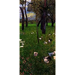Oil Painting 'Gustav Klimt-After The Rain,1899' Printing On High Quality Polyster Canvas , 24x50 Inch / 61x128 Cm ,the Best Hallway Artwork And Home Artwork And Gifts Is This High Resolution Art Decorative Canvas Prints