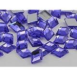 10x7mm Violet .VT Flat Back Diamond Acrylic Jewels High Quality Pro Grade - 100 Pieces