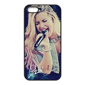 Demi Lovato Pattern Design Solid Rubber Customized Cover Case for iPhone 4 4s 4s-linda622