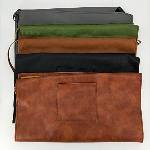 Ltd Leather Halter (Vinyl Waterproof Aprons,Soft Leather Apron , Super Waterproof Oil and Stain Proof, alkali and Acid-Resistant Leather Apron, Specially made for Male Chefs and Women, 1 Pack(Grass Green))