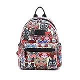 Fvstar Owl Canvas Teen Girls Backpack Cute Mini School Bag Kids Mini Travel Purse Rucksack
