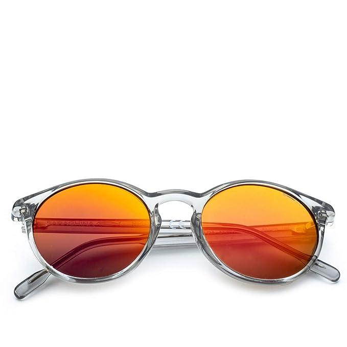 SARAGHINA | Gafas de Sol King Guild Gris Cristal Rojo Lente ...