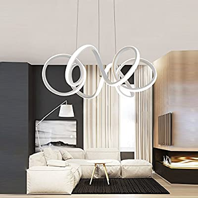 Lámpara colgante de diseño LED, lámpara de material acrílico para ...