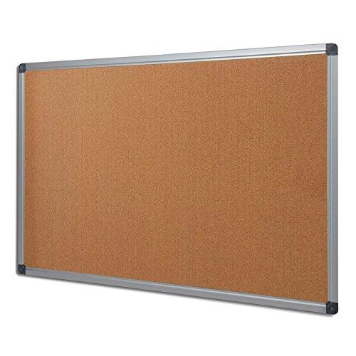MOB Pinnwand - 7 Größen wählbar - 120x90cm - mit Aluminiumrahmen, für Wohnung und Büro