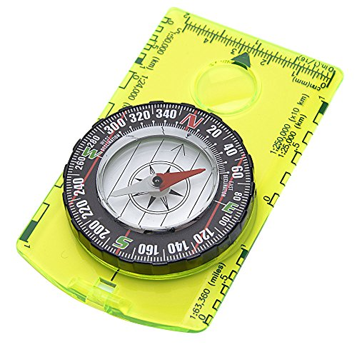 - Reliable Outdoor Gear Professional Boy Scout Compass - Liquid Filled, Rotating Bezel, Magnetic Heading - for Navigation, Orienteering and Survival