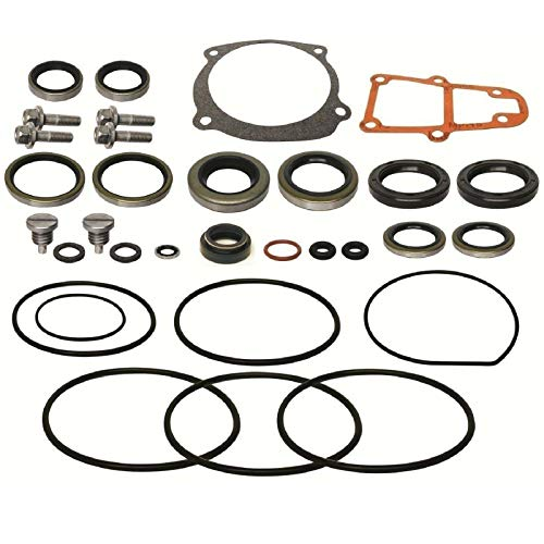 (Johnson Evinrude V4 85 90 115 140 V6 150 175 185 200 225 HP 1976-1995 Lower Unit Gearcase Seal Kit Replaces 396353 5000141 18-2623 Read Item Description for Exact Applications )