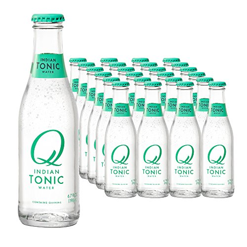 Q Drinks, Q Indian Tonic Spectacular Tonic Water, Premium Mixer, 6.7 Fl Oz Glass Bottles (Pack of 24) ()