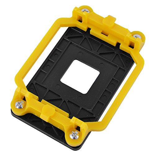 uxcell Plastic AM2 AM3 FM1 FM2 FM2+ Socket CPU Fan Cooler Base Bracket Holder Yellow