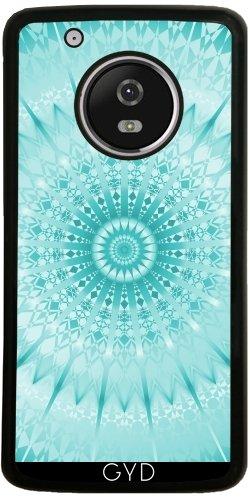 Funda de silicona para Moto G5 Plus - Turquesa Mandala Metálico by Nina Baydur