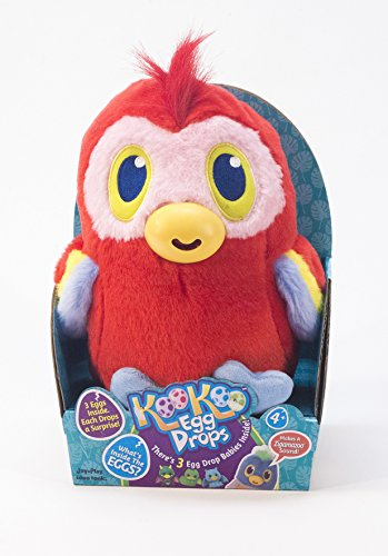 Jay at Play Koo Koo Egg Drops (Parrot) Includes 3 Egg Drop Surprise Eggs – Perfect Easter Basket Gift for Girls & Boys – Squeeze for a Surprise Toy and Hatch Adorable, Collectible Egg Drop Babies
