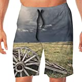 Best Hot Wheels Hot Cocoas - Haixia Mens Lightweight Boardshorts Barn Wood Wagon Wheel Review