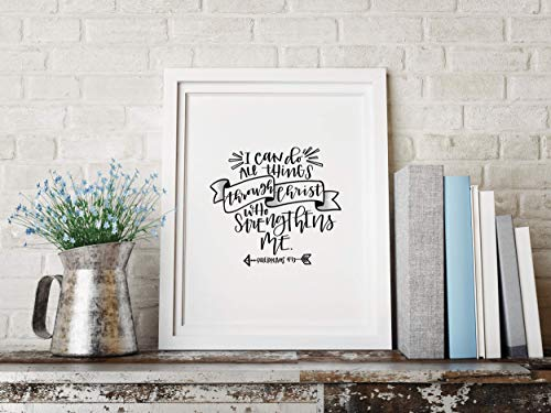 """I Can Do All Things Through Christ"" Cardstock Print 8.5x11"