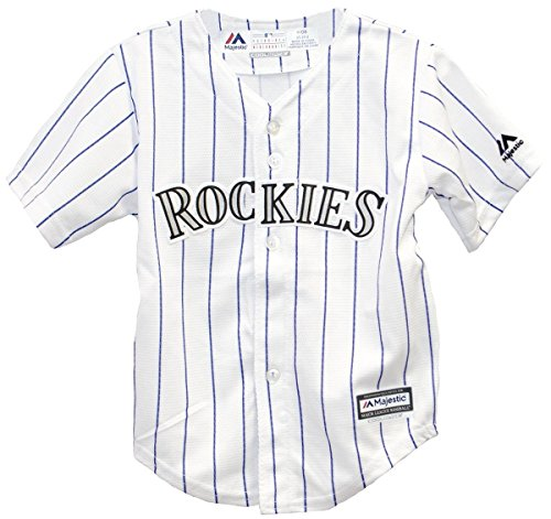 Colorado Rockies Home Pinstripe Cool Base Toddler MLB Jerseys (3T)