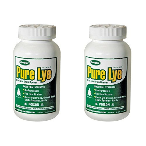 ComStar 024924305003 Pure Lye Bead Drain Opener, 1 lb, White - 2 Pack by Comstar