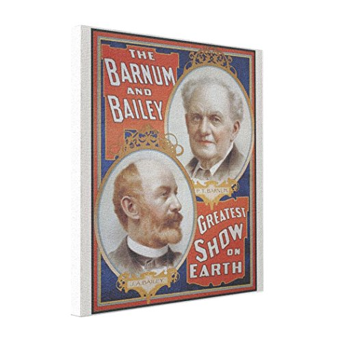 Farekui1 Cheap Art Canvas Barnum Bailey Greatest Show on Earth Print Photos On Canvas ()