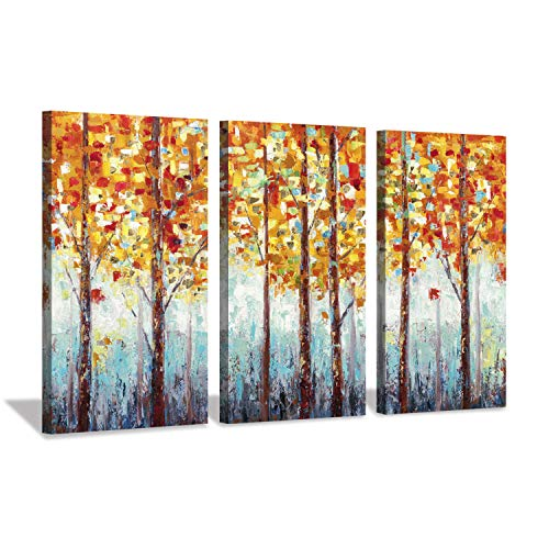 Hardy Gallery Abstract Landscape Arts Woods Pictures: Fall Trees Artwork on Canvas for Homes ()