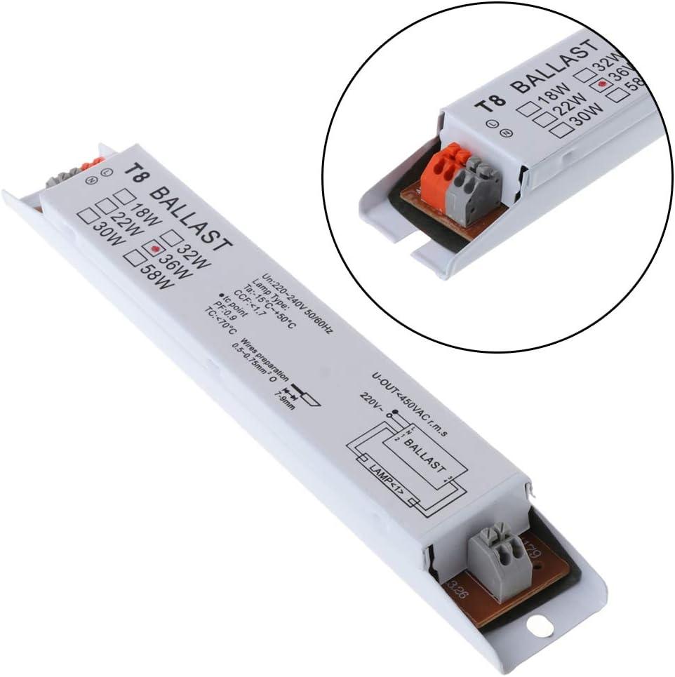 ruiruiNIE 220-240V AC 36W Ballasts /électroniques /à Lampe Fluorescente /à Tension Large T8