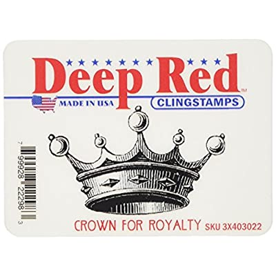 Deep Red Stamps Crown for Royalty Rubber Stamp: Arts, Crafts & Sewing