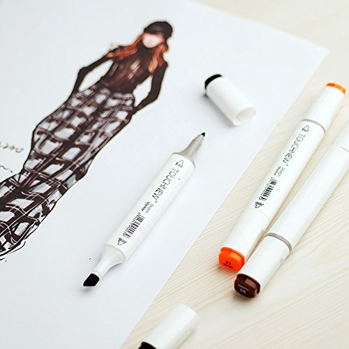 A4 Color Highlighting Graphic Parblo Tip Carry Design Drawing Twin Glove Book Bag Set Pen 168 TOUCHNEW Set Painting Sketch Coloring Drawing Marker with Alcohol Dual Art Aww1q5Canx
