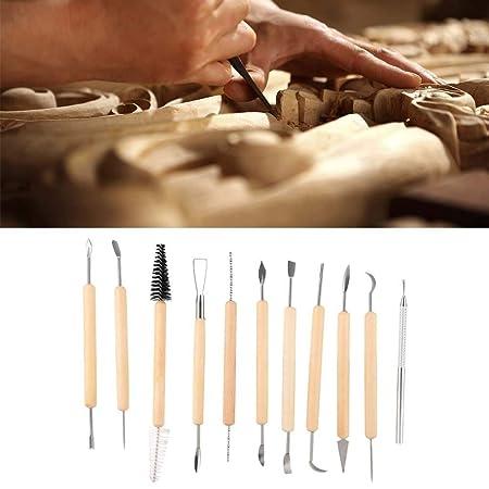 11pcs Ceramic Carving Tool Diy Craft Arcilla Juego de herramientas de cer/ámica Herramienta de alfarer/ía para madera de arcilla Arcilla de espuma de afeitar