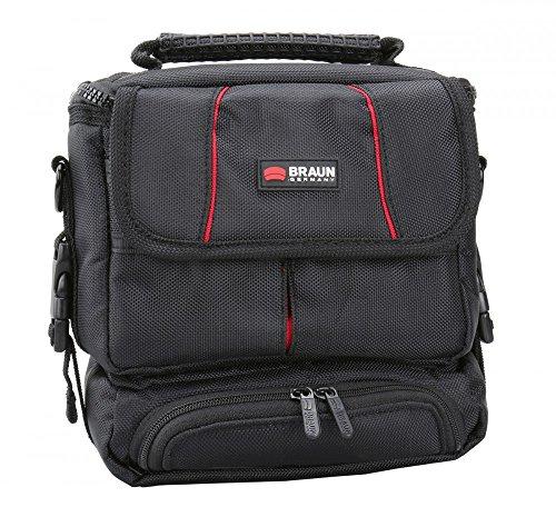 Systemkamera Tasche Braun Asmara 600 mit Zubehörtasche - passend für: Sony Alpha 5000 5100 6000 6300 NEX-3, Panasonic GX7 GX8 GM1 GM5, Samsung NX3000 NX2000 NX20 NX300, Canon PowerShot G3 X SX60 HS EOS M3 M10, Olympus OM-D E-M1 E-M5 E-M10 E-P5 Pen E-PL6 E-PL7, Nikon Coolpix B700