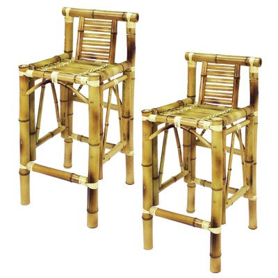 RAM Gameroom Bamboo Tiki Bar Stool