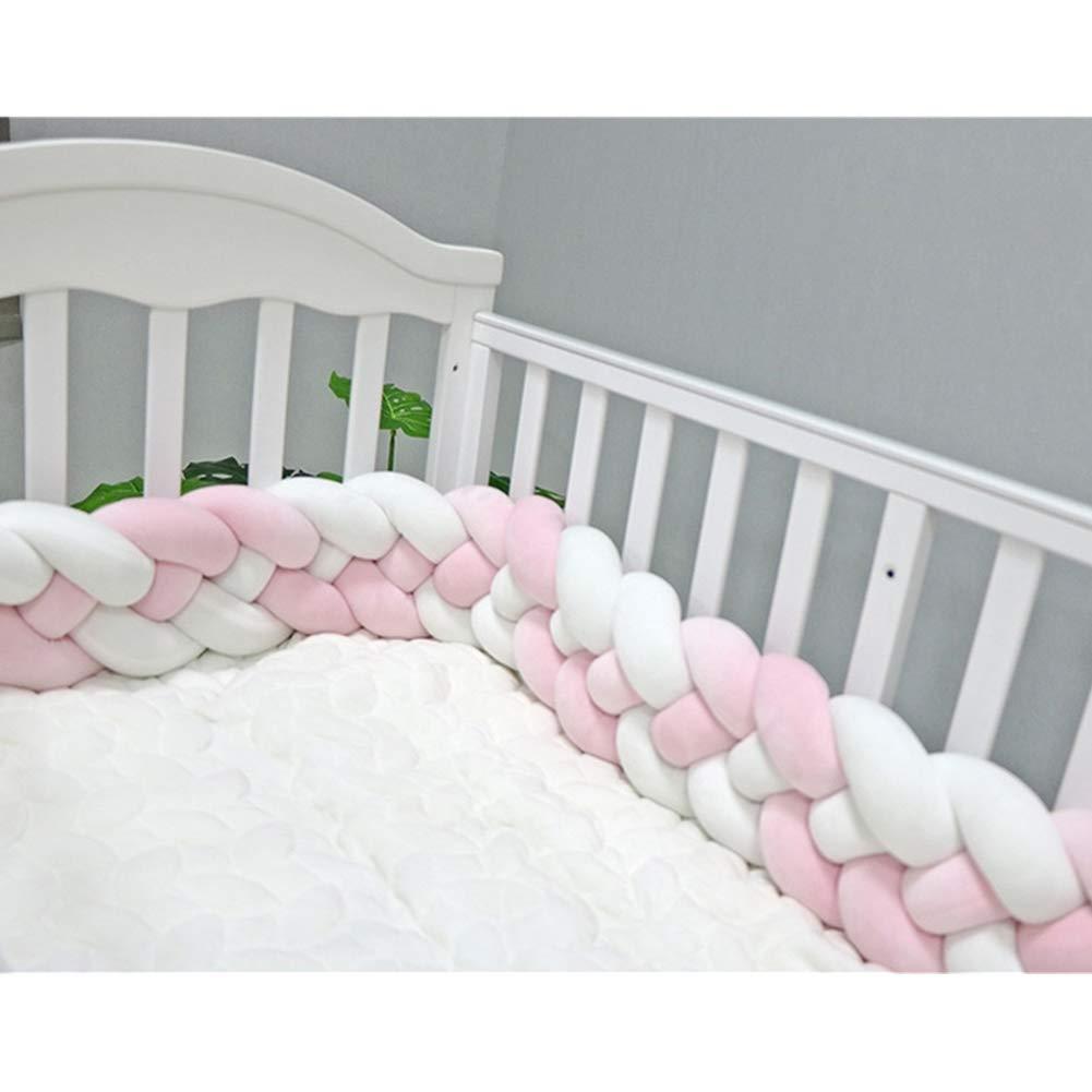 4brins bébé tressée de berceau pare-chocs en peluche Super Long Nœud Coussin Oreiller, chambre d'enfant Décor Parure de lit Berceau de clôture de sécurité Poussette RUICK