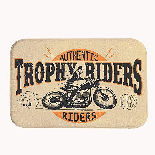 Rider Trophy - Rikoel Super Soft Non-Slip Authentic Trophy Riders Bath Mat Coral Fleece Area Rug Door Mat