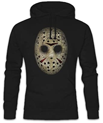 Hockey Mask Hoodie Sudadera con Capucha Sweatshirt - Viernes Vendredi The 13 Friday Jason Horror 13th Camp Crystal Lake Tamaños S - 2XL: Amazon.es: Ropa y ...