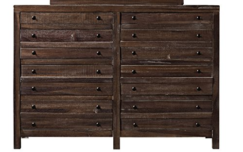 Modus Furniture 8T0682 Townsend Eight-Drawer Solid Wood Dresser, Java ()