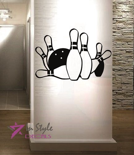 wall-vinyl-decal-home-decor-art-sticker-silhouette-bowling-pins-ball-game-fun-room-removable-stylish
