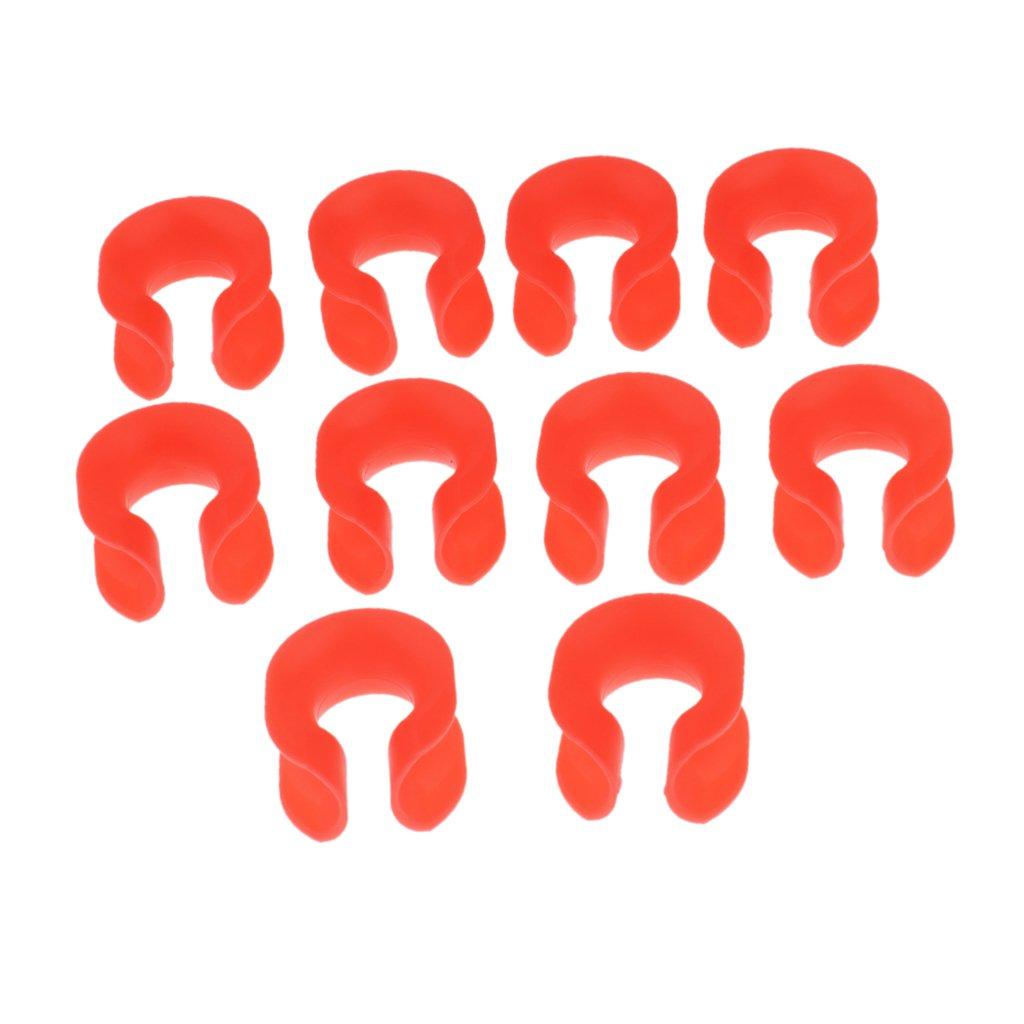 Homyl 10pcs Plastic Rappelling Rope Protection Sleeve Cover Loop Outdoors Orange