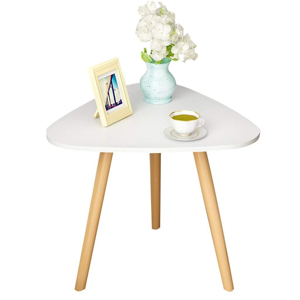 三角形のコーヒーテーブル北欧純木小さなテーブル肥厚パネル現代のソファーサイドテーブルサイドキャビネット寝室ナイトテーブルホームスタディテーブル40×42センチ ## (色 : 白)  白 B07S9Z1VHC