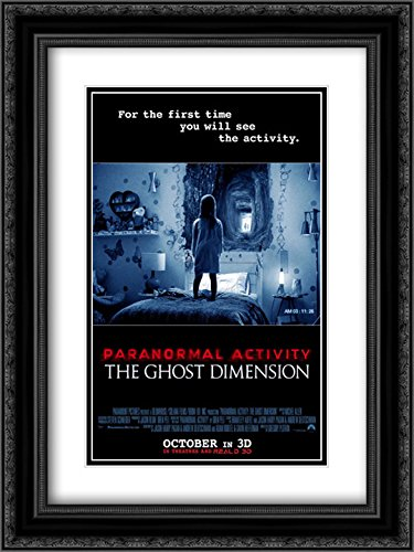 Paranormal Activity: The Ghost Dimension 18x24 Double Matted Black Ornate Framed Movie Poster Art Print by ArtDirect